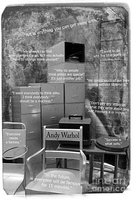Photograph - Andy Warhol's Studio Quotes by Nina Silver
