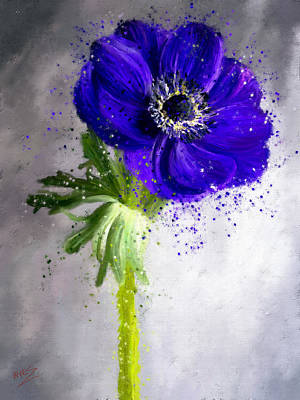 Painting - Anemone by James Shepherd