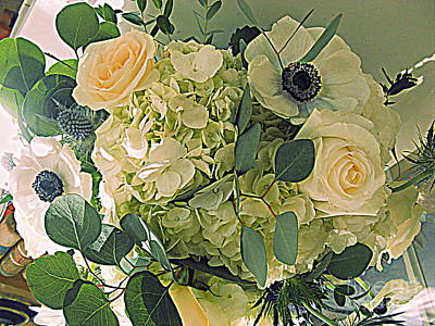 Photograph - Anemones And Roses by Nancy Kane Chapman