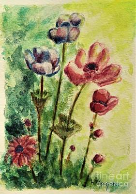 Painting - Anemones by Laurie Morgan