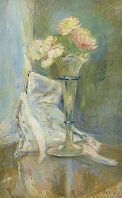 Painting - Anemones Roses by Berthe Morisot