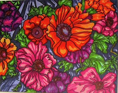 Painting - Anenomes by Barbara O'Toole