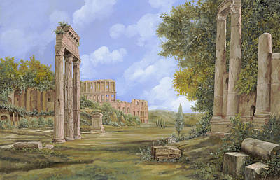Column Painting - Anfiteatro Romano by Guido Borelli