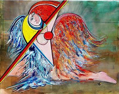 Angel - Study 1 Art Print by Valerie Wolf