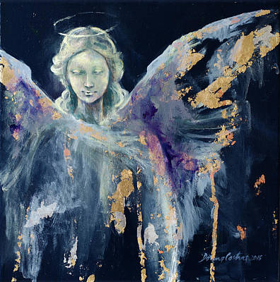 Christmas Cards Painting - Angel 1 by Dorina Costras