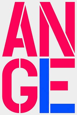 Angel-3 Art Print
