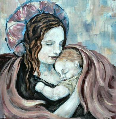 Angel And Baby No. 5 Art Print