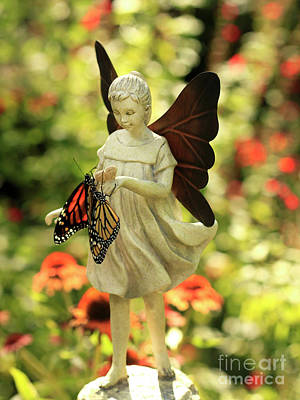 Photograph - Angel And Butterfly Blessings by Luana K Perez