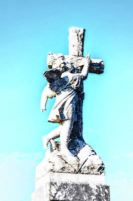 Photograph - Angel And Cross by Frances Ann Hattier