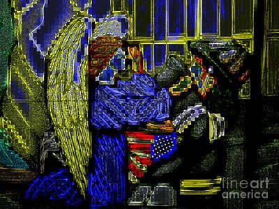 Digital Art - Angel And Hero by Ed Weidman