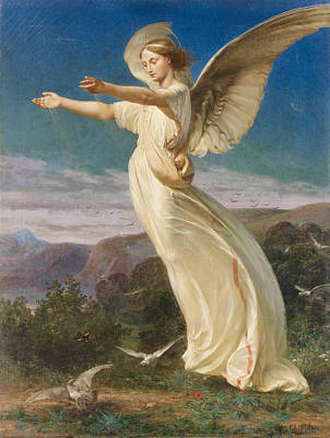 Warrior Goddess Painting - Angel by Armand Cambon