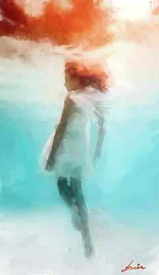 Primitive Angel Painting - Angel by Armin Sabanovic