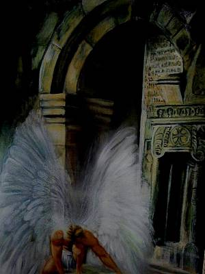 Pastel - Angel At My Door by Mandy Thomas