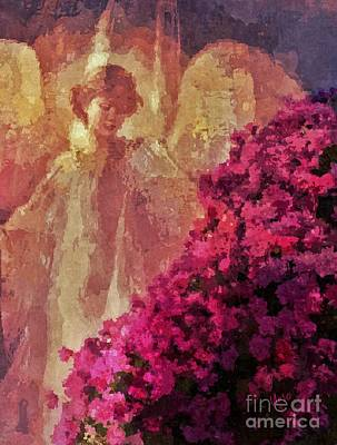 Digital Art - Angel At The Falls by Maria Urso