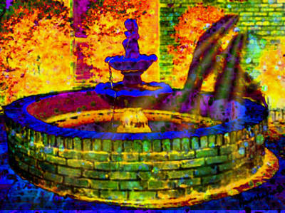 Digital Art - Angel At The Fountain by Anastasia Savage Ealy