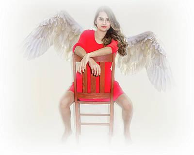 Photograph - Angel Attitude  by Leticia Latocki