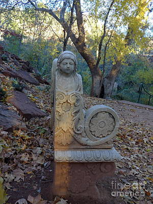 Photograph - Angel Bench Autumn Sedona by Marlene Rose Besso
