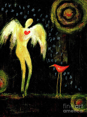 Painting - Angel Bird by Terry Ellis