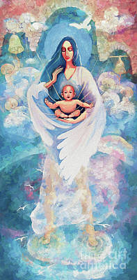 Painting - Angel Blessing by Eva Campbell