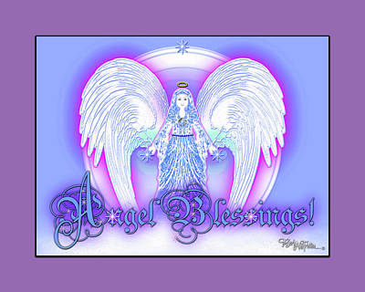 Angel Blessings #196 Art Print