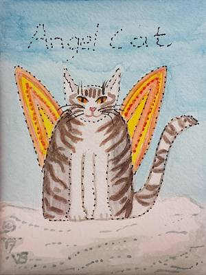 Painting - Angel Cat by Vera Smith