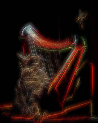 Digital Art - Angel Cat by William Horden