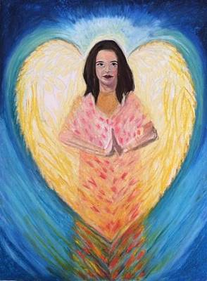 Pastel - Angel Child by Therese Legere