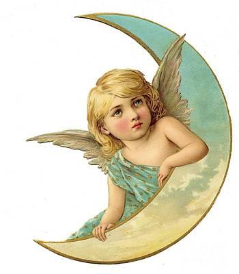 Painting - Angel Child Vintage by R Muirhead Art