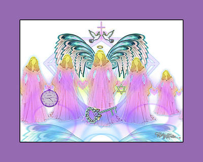 Digital Art - Angel Cousins #198 by Barbara Tristan