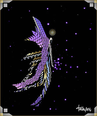 Digital Art - Angel Creating Starlight by Larry Talley