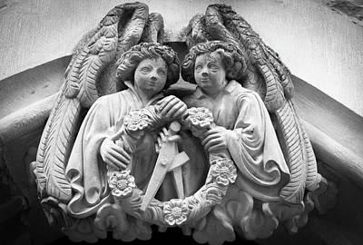 Angel Crest B W Art Print