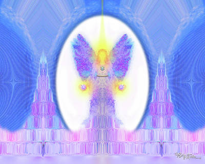 Digital Art - Angel Crystals 444 by Barbara Tristan