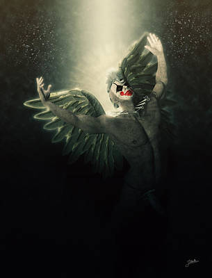 Phallus Digital Art - Angel Del Infierno by Joaquin Abella