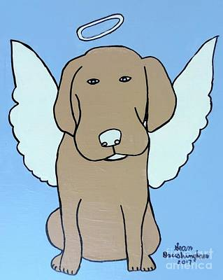 Painting - Angel Dog by Sean Brushingham