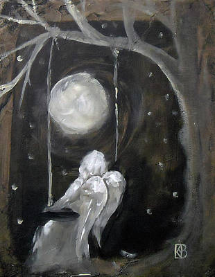 Night Angel Mixed Media - Angel Dream Too by Kathleen Barnes
