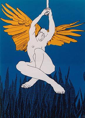 Angel Art Print by E Gibbons