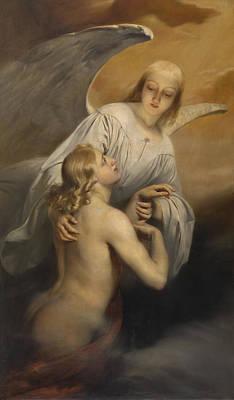 Super Girl Painting - Angel by Edouard Dujardin