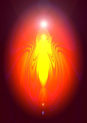 Angel-energy-healing Art Print by Ramon Labusch