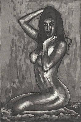 Drawing - Angel by Erik Paul
