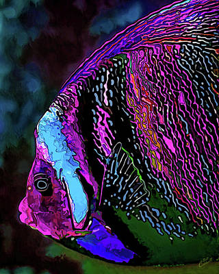 Digitally Manipulated Digital Art - Angel Face 1 by ABeautifulSky Photography by Bill Caldwell