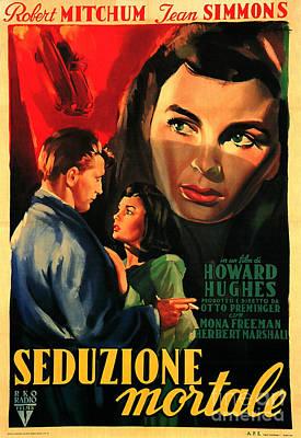 Painting - Angel Face 1952 Film Noir by R Muirhead Art