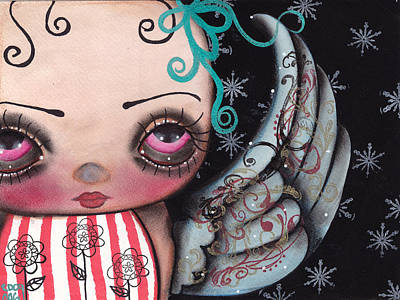 Angel Face 3 Art Print by  Abril Andrade Griffith