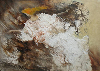 Painting - Angel Flight. Monotype by Valentina Kondrashova
