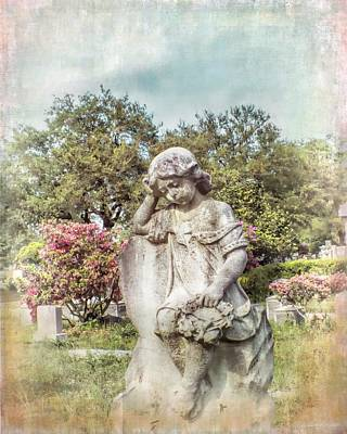 Photograph - Angel For Annie, Cemetery Child Angel, Charleston South Carolina by Melissa Bittinger