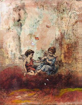 Mixed Media - Angel Friends by Judy Tolley