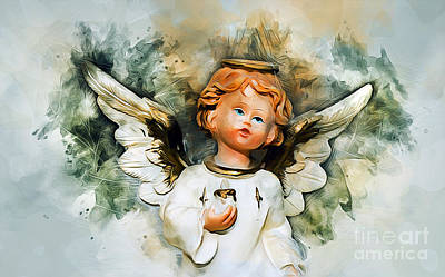 Mixed Media - Angel From Heaven by Ian Mitchell