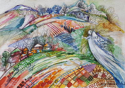Painting - Angel From Jacob's Ladder by Rita Fetisov