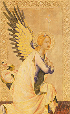 Ornate Painting - Angel Gabriel  by Simone Martini