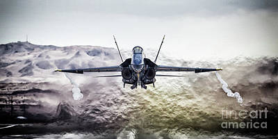 F-18 Digital Art - Angel Gets Airbirne by J Biggadike
