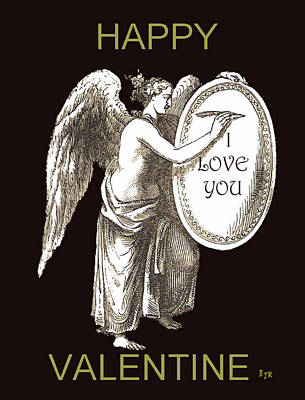 Mixed Media - Angel Happy Valentine by Eric Kempson